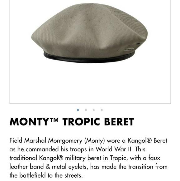 38b1dab45 KANGOL 'Tropic Monty' Military Beret 'Putty' Mens